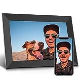 Jeemak Digitaler Bilderrahmen 10,1 Zoll WLAN Fotorahmen FHD IPS Touchscreen Mit Porträte oder Landscape Modus Fotos und Videos können jederzeit und von überall aus, über die App geteilt W
