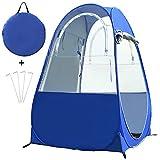 Lwieui Duschzelt Tragbare Outdoor-Duschzelt Strand Privatsphäre Toilette Zelt Zelte (Farbe : Blau, Size : 100x100x160cm)