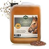Martenbrown® Premium Leinöl für Pferde, Hunde und andere Tiere | im XXL-Kanister [20 Liter] | kaltgepresst und 100% rein und natürlich | Nahrungsergänzung für Tierfutter