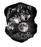 ALISISTER Multifunktionstuch Nahtloses Halstuch Schlauchtuch 3D Wolf Bedruckte Kopftuch Stirnband Motorrad Bandana Outdoor UV Staubschutz Face Scarf für Staub,Wandern, Reiten, Motorradfahren