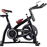 Fitnessbikes Sport Bike Home Silent Spinning Bike,Indoor Pedal Heimtrainer,Einstellbare Fitnessgeräte zur Gewichtsreduktion für Fahrräder,Kann 230 kg tragen ( Color : Black , Size : 115*50*95-108cm )