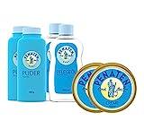 Penaten Hautpflege-Set für babyweiche Haut - 2x Babypuder 100g, 2x Pflegeöl 500ml & 2x Wundschutzcreme 150ml - Rundum-sorglos-Paket zum Schutz der Babyhaut & des Windelbereichs