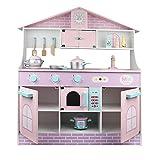 CMOIR Küche Playset Pretend Toy Küche aus Holz Little Chef Pretend Play Kitchen Kochen Spielzeug-Set Kochgeschirr Zubehör Intelligent Toy Kitchen Spielset Küchenspielzeug für Kleink