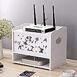 Schwebendes Regal, WLAN-Router-Aufbewahrungsbox, Netzkabel-Steckdose, Organisationsbox, Organisationsbox, schwimmende Set-Top-Box, weiß, D-J
