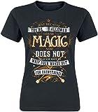Harry Potter Magic Frauen T-Shirt schwarz XL 100% Baumwolle Fan-Merch, Filme, Hogwarts