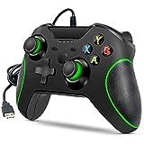 Kabelgebundener Controller für Xbox One, Dual-Vibration, USB, Xbox One, Game-Controller für Xbox One, PC, Windows 7/8/10, Schwarz