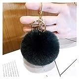 LDH 8 Stücke Kreative Schlüsselanhänger, Hairball Schlüsselring, Flauschige Schlüsselring Damen Gepäck Anhänger, Anhänger Keychain Dekoration (Size : M)