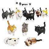 PHOGARY 9 STÜCKE Realistische Katzenfiguren, Lehrreich Kitty Figuren Spielzeug-Set, Kätzchen Ostereier Kuchendeckel Weihnachtsgeburtstagsgeschenk für Kinder Jungen Mädchen Kinder Katzenliebhab