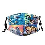 Disney Tier-UV-Gesichtsmaske, Sonnenmaske, Motorrad-Kopfbedeckung, magischer Schal, zum Angeln, Jagen, Laufen, Skifahren