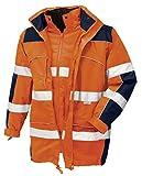 teXXor Warnschutz-Parka Toronto wasserdichte, winddichte Arbeitsjacke, L, orange, 4109