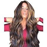Perücke Damen Braun Lang Locken Haarperücke Synthetische Perücke für Damen Cosplay faschingskostüme damen hochzeit songmics haarteil wig schaufensterpuppe haare frau dauerwelle