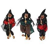 RMBLYfeiye Halloween-Horror-Hexen-Figur-zum-Aufhängen,Halloween Deko zum Aufhängen Halloween-Party Dekoration Aufhängen für Party Nachtclub Outdoor Wandbehang Deko ohne Batterie