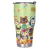Cyliyuanye Animal Crossing Rostfreier Stahl Becher Isolierter Reisebecher Groß Kaffeebecher Für Home Office School Geschenke für Freunde Familie White 900ml