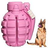 SUNNEKO Premium Hundespielzeug Unzerstörbar aus Naturkautschuk – sehr Robuster Kauspielzeug Hunde nahezu Unkaputtbar – Intelligenzspielzeug für Kleine Mittelgroße und Große Hunde (Rosa)