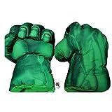 U/C 1 Paar weiche Plüsch Kinder Boxhandschuhe Spiderman Spielzeug Hulk Smash Hände Fäuste Kostüm Cosplay Handschuhe Puppen für Jungen Mädchen,Hulk
