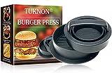 Burgerpresse, Burgerpresse Patty Maker, Burgerpresse Patty Presse, 3 in 1 Burger Patty Presse, für perfekte Burger, Patties oder Frikadellen, Robustes Grillzubehör, spülmaschinenfeste Hamburger Presse