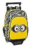 safta Unisex-Kinder M020D Kinderrucksack, Weiß/Schwarz/Gelb, 260x110x340 mm