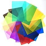 tao pipe 18 Stück Gel Farbfilter Filter Transparente Farbige Farbfilm Folie für Foto Studio Strobe Blitz LED, Farbgel-Filter, Fotostudio-Zubehör