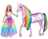 Barbie FXT26 - Dreamtopia Magisches Zauberlicht Einhorn mit Berührungsfunktion, Licht und Sound, Puppen Spielzeug und Puppenzubehör ab 3 Jahren