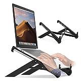 HYE Laptopständer, robuster Kunststoffständerhalter Faltbarer Laptop-Riser-Aufzug für 10 bis 17-Zoll-Laptops, schwarz
