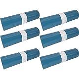 Hossi's Wholesale Abfallsäcke, 6 Rollen à 25 reißfeste Müllbeutel XXL, Müllsäcke blau, Mülltüten extra stark, 120l, 700x1100