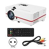 minifinker Projektor LCD-Projektor Manuelle Fokussierung, für Computer, für TV, für Video(European Standard 110-240V, Transl)