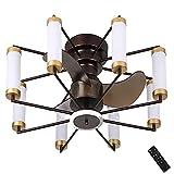 Deckenventilator mit Licht und Fernbedienung, dimmbare Lampe, Reversible Motor Mute Fan Invisible Blades Kronleuchter LED-Beleuchtung für Schlafzimmer, Wohnzimmer, Küche, 3 Farben änderbar 6
