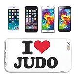 Reifen-Markt Handyhülle kompatibel mit Samsung Galaxy S4 Mini I Love Judo Kampfsport JUDOANZUG Ringen JUDOUNTERRICHT Hardcase Schutzhülle Handy Cover Smart Cover