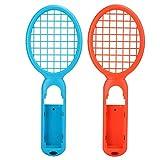 Romantisches GeschenkTennisschläger, Motion Sensing Tenniszubehör Spiel Requisiten, Tennisschläger für Switch Game Console(Red + Blue (Color Box))