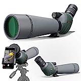 Gosky 20–60 x 80 Dual Focusing ED Spektiv – Ultra High Definition Optik Scope mit Tragetasche und Smartphone-Adapter für Zielschießen, Jagd, Vogelbeobachtung, Wildtiere, Astronomie Landschaft