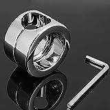 QNMD Penis Ring Edelstahl Ballstretcher Cockring Cock And Ball Lock Mannes Schwanz Ring Enhancer Keuschheit Ringe Mit Schraubenschlüssel Und Schraube
