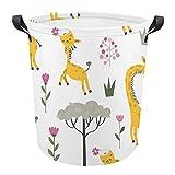 Wasserdichter Wäschekorb mit Giraffenmuster, Wäschekorb mit Griffen, zusammenklappbarer Korb für Aufbewahrungskorb, Kinderzimmer, Zuhause, Organizer, Babykorb