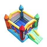 QULONG Dickes Nylon Oxford Tuch 800D PVC Netzklemmtuch Aufblasbare Kinder Spielen Castle Bounce House Castle Ball Pit Jumper Mehrfarbig (3,7 * 2,7 * 2,3 m) Qualitätssicherung