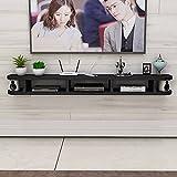 Wandbehang TV-Schrank, Schwebender TV-Standschrank, Wohnzimmer Home Office HäNgende TV-Konsole Wandhalterung Unterhaltungseinheit/E / 140CM