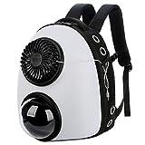 Ofgcfbvxd Rucksack Für Haustiere Raum Pet Travel Bag Go Out Tragetasche Katzen-Tasche ändern Fan-Hunderucksack Tragetasche Für Haustiere (Color : White, Size : 35x45x28cm)