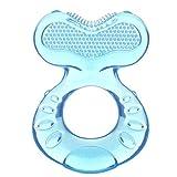 Nuby, Teethe EEZ Beruhigender Beißring, 3+ Monate, blau, 1er Pack (1 x 2 Stück)