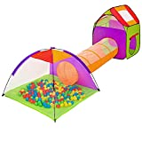 LUNE Kinderspielzelt Spielhaus, Draußen Krabbeltunnel Zimmerzelt Spielhaus Mehrfarbig Tasche Für Drinnen Draußen Garten