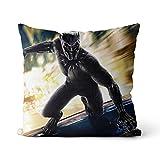 Premium Kissen Black Panther Hochwertig Soft Kopfkissen Super Hero Kinderkissen Home Decorative Solid Square Pillow 45x45cm, Mit Füllstoff