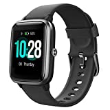 YAMAY Smartwatch,Fitness Armband mit Pulsuhren Fitness Tracker Wasserdicht IP68 Fitnessuhr Sportuhr Schrittzähler für Android iOS Handy Smart Watch mit Unterschiedliche Zifferblätter für Damen H