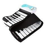Mettime Kids Piano Keyboard Flexibel Roll Up Piano 37 Tasten,Tragbare USB-wiederaufladbare musikalische Tastatur Instrumentenspielzeug Geschenk für Kinder