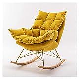 KUYH Wohnzimmer Schaukelstuhl Relaxsessel Lazy Sofa Tatami Loungesessel Schlafzimmer Wohnzimmer Büro Modern Einfach Einzelstuhl Loungesessel