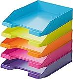 Han Briefablage A4 (1 Karton = 10 Stück) modern colours je 2 orange, hellblau, pink, hellgü