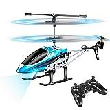 Vatos Hubschrauber Ferngesteuert Indoor Mini Helikopter Spielzeug Ferngesteuert RC Helikopter Flugzeug Geschenk Kinder YD-927 3 Kanal 2.4 GHz LED Gyro Schwebefunktion