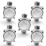 LedPave I 5x2-Wege I Abzweigdose Wasserdicht I IP68 I Verteilerkasten Kabelverbinder I 4xPG11 I Kabelmuffe Anschlussdose für 4-9mm kabel I Muffe Erdkabel I Verteilerdose Wasserdicht