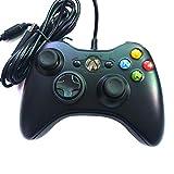 DJG Kabelgebundenes Gamepad Gamepad, USB-Kabelgebundener PC-Gamecontroller-Joystick mit für PC/Laptop-Computer (Windows XP / 7/8) und PS3-Android-Smart-TV,Schw