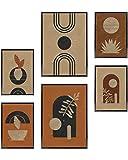 Heimlich® Premium Poster Set | OHNE Bilderrahmen | Stilvolles Set mit passenden Bilder als Wohnzimmer Deko | 2 x DIN A3 & 4 x DIN A4 - ca. 30x42 & 21x30 | » Atelier Modern «