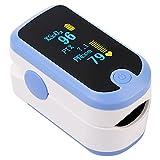 ACCARE Pulsoximeter, Sauerstoffsättigung Messgerät Finger, Herzfrequenzmesser und SpO2-Stufen, Tragbares Oximeter mit Lanyard und Batterien, Blau, FS20E