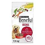 PURINA BENEFUL Original Hundefutter trocken, mit Rind und Gartengemüse, 1er Pack (1 x 7,5kg)