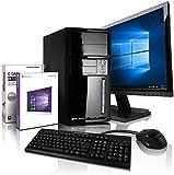 Komplett PC Intel i5 Allround/Multimedia Computer mit 3 Jahren Garantie! | Intel Core i5® 4430 Quad Core, 3.2 GHz | 8GB | 120GB SSD | 500GB | 6xUSB | Win10 Pro | 24' Full-HD | Tastatur+Maus #6576