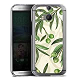 DeinDesign Hard Case kompatibel mit HTC One M8 Eye Schutzhülle transparent Smartphone Backcover Olive Blumen Natur